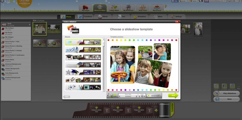 free edit video online kizoa