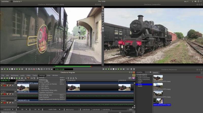 free linux video editor cinerella interface