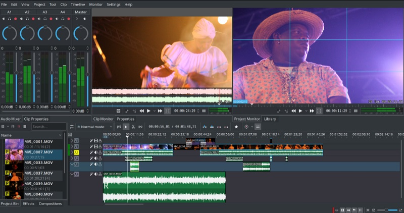 free linux video editor kdenlive interface
