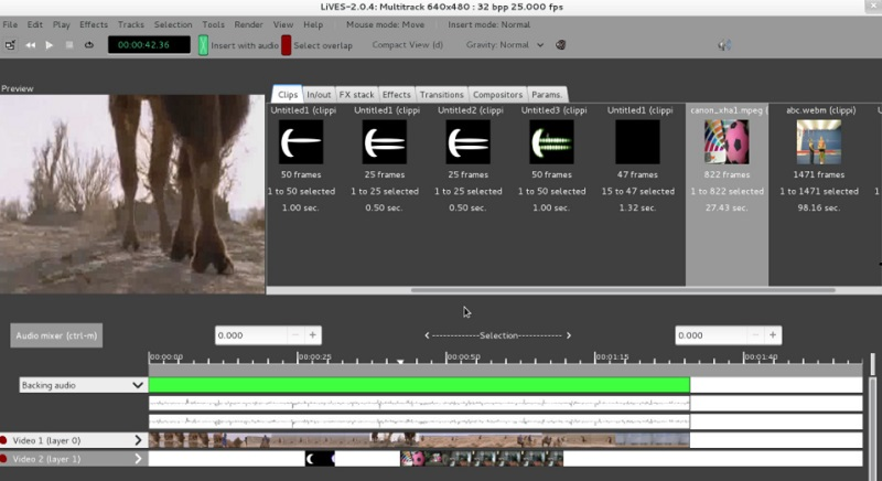 free linux video editor lives interface