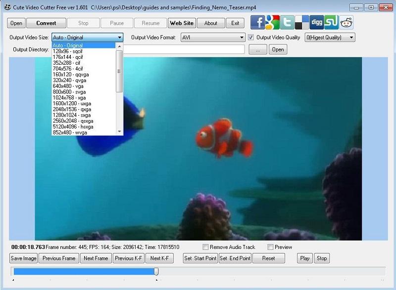 free video cutter cute video cutter free interface