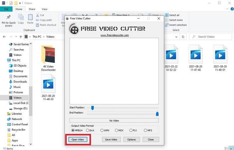 free video cutter freevideocutter interface