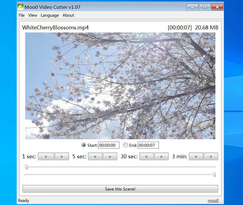 free video cutter moo0 video cutter interface