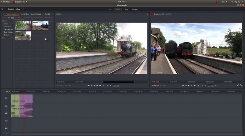 free video editing app for pc lightworks interface