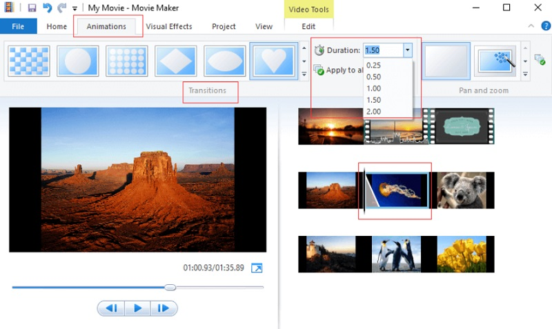 free video editing app for pc moviemaker interface