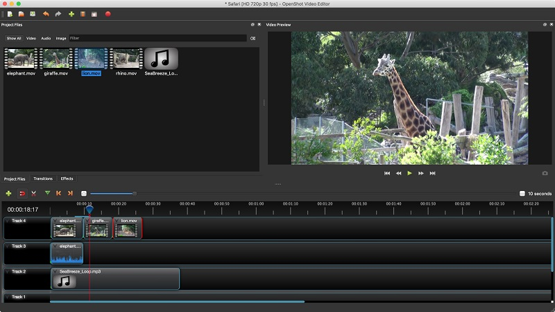 free video editing app for pc openshot interface
