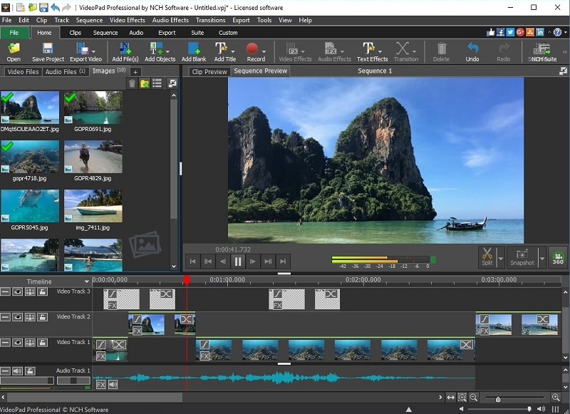 free video editing app for pc videopad interface