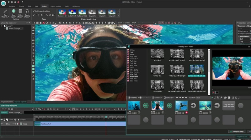 free video editing app for pc vsdc interface