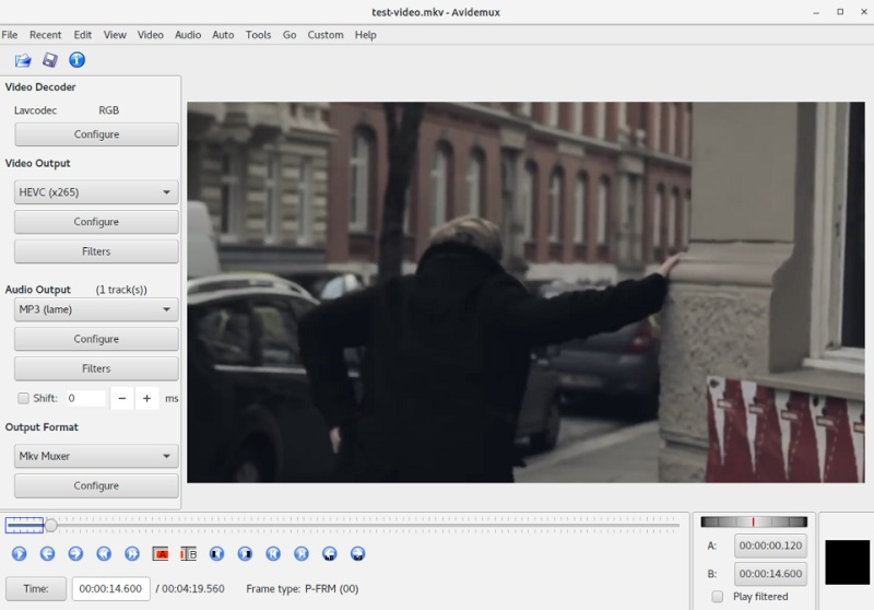 free video editor mac avidemux interface