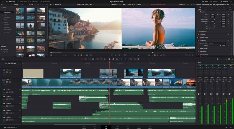 free video editor mac da vinci resolve interface