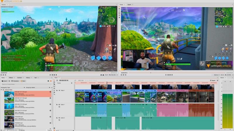 free video editor mac hitfilmexpress interface