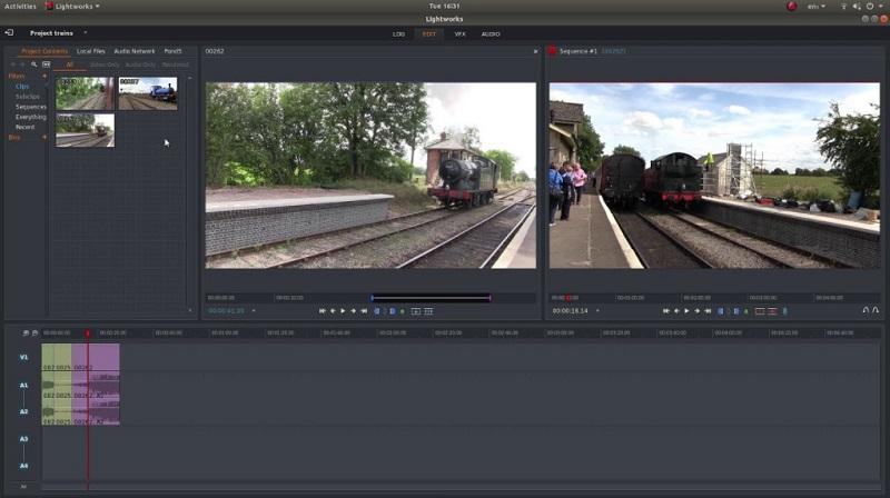free video editor mac lightworks interface