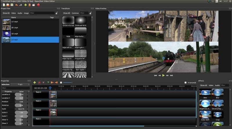 free video editor mac openshot interface