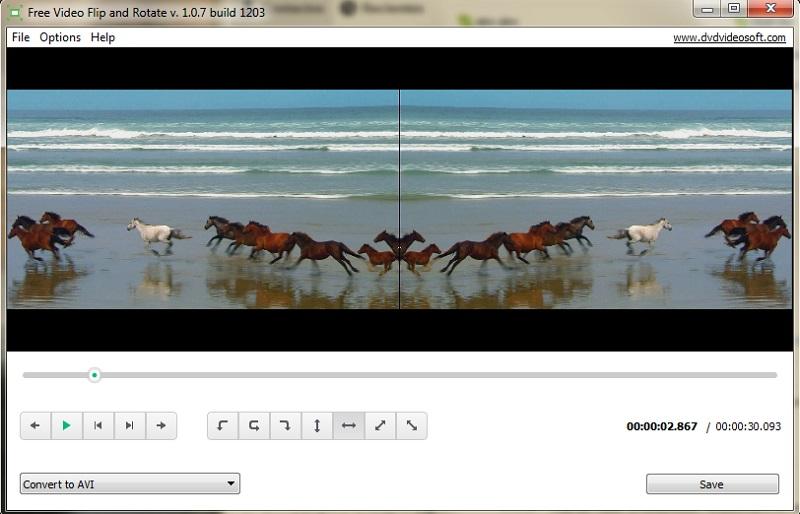 free video rotator free video flip and rotate interface