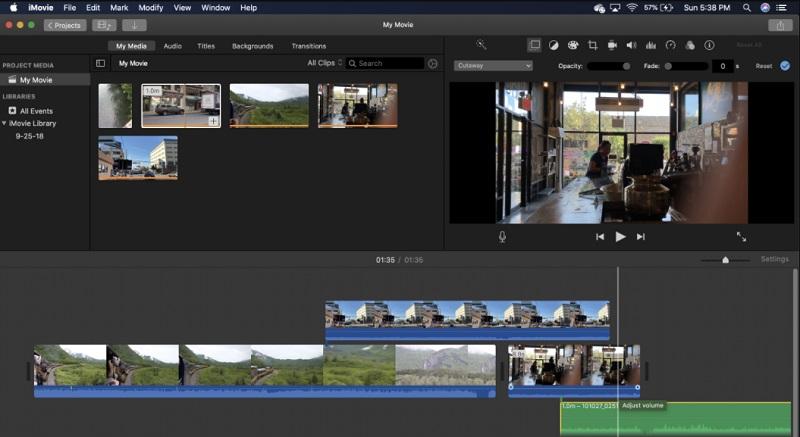 free video rotator imovie interface