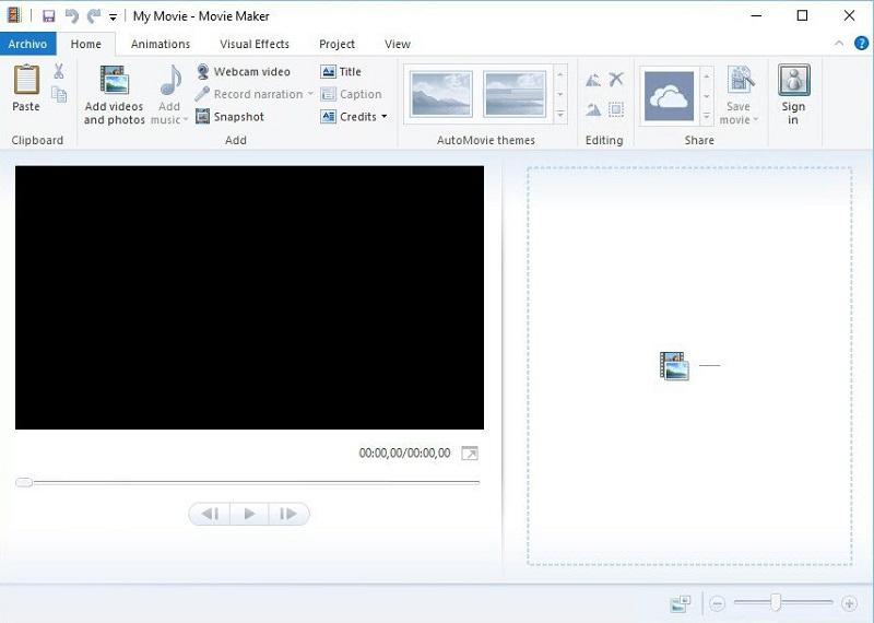 free video rotator moviemaker interface