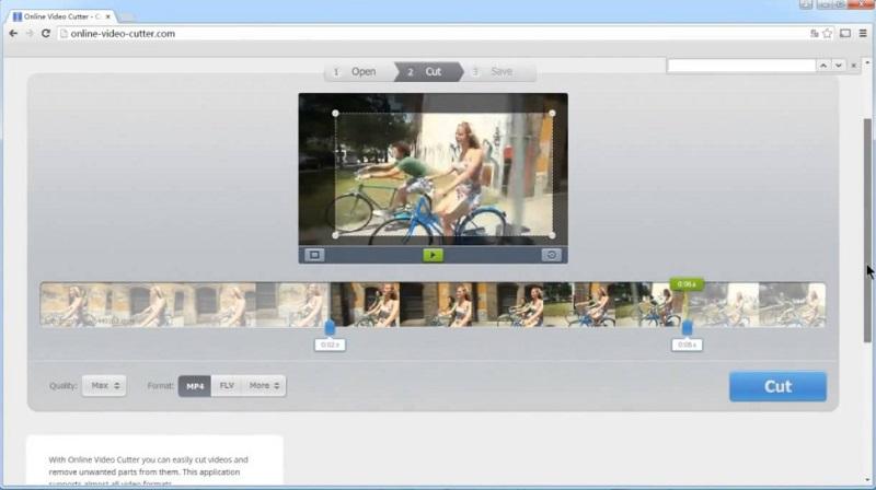 free video rotator online video cutter interface
