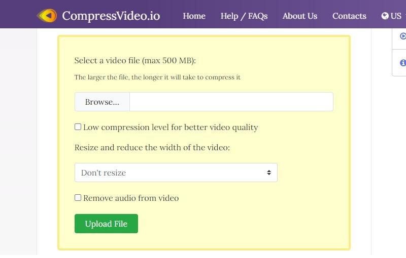 reduce video size mac compressvideo interface