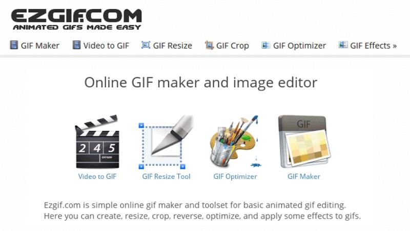 reduce video size mac ezgif interface