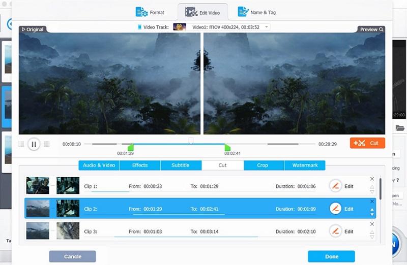 reduce video size mac videoproc interface