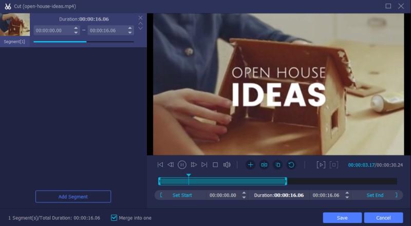 trim video with vlc vm process