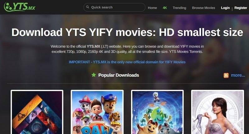 utorrent movies yts torrent website