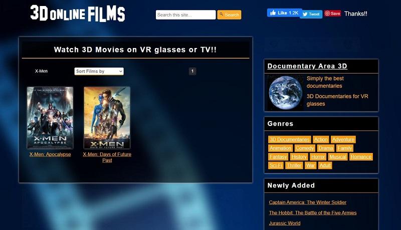 3d movie sites 3d online films