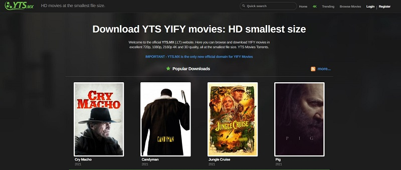 download hd movies yify