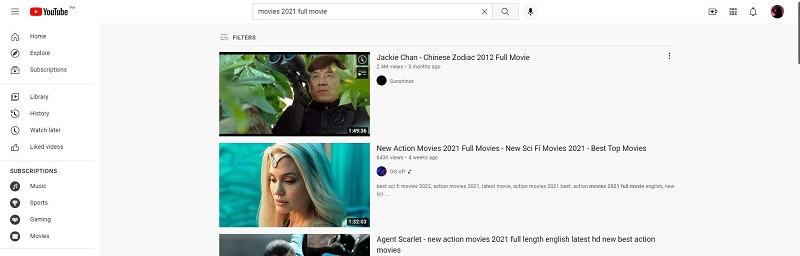 download hd movies youtube