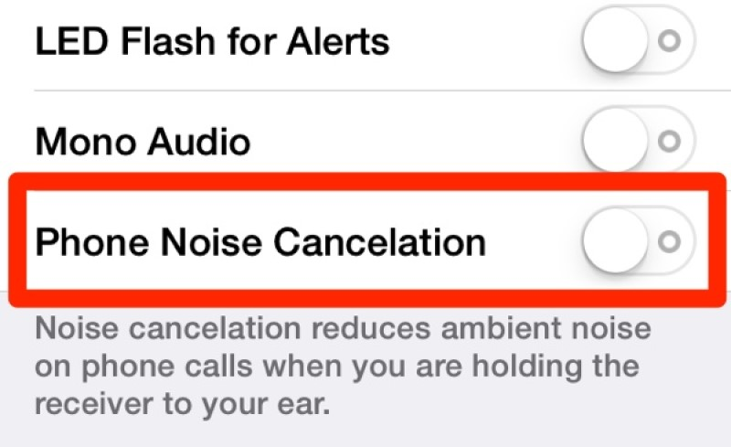 iphone call volume low noise cancel