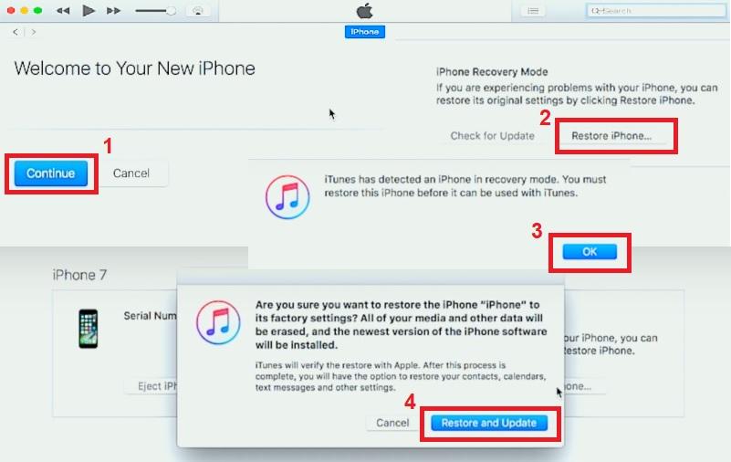 iphone keeps turning off backup using dfu mode