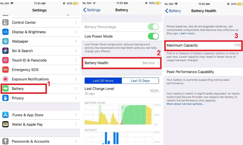 iphone keeps turning off check battery health