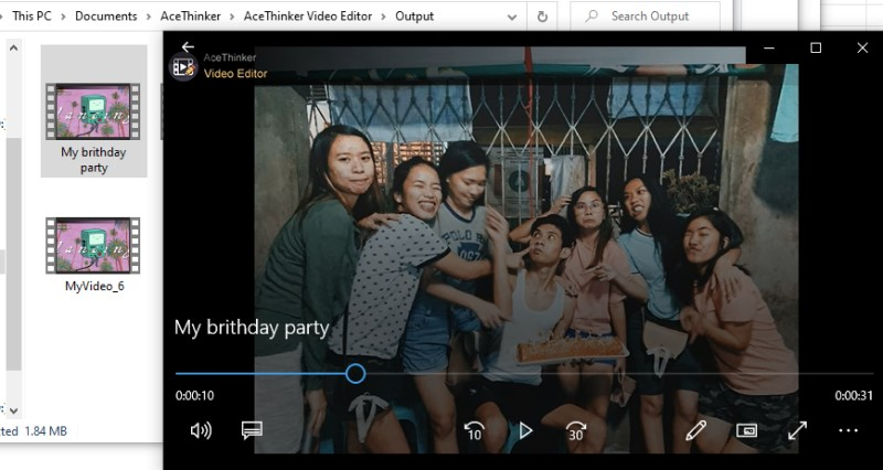 make video from pictures ve play