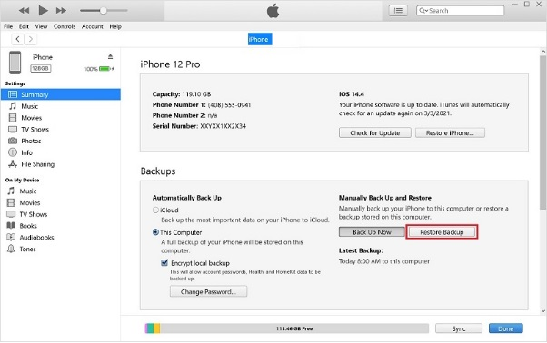 recover deleted snapchat messages itunes2