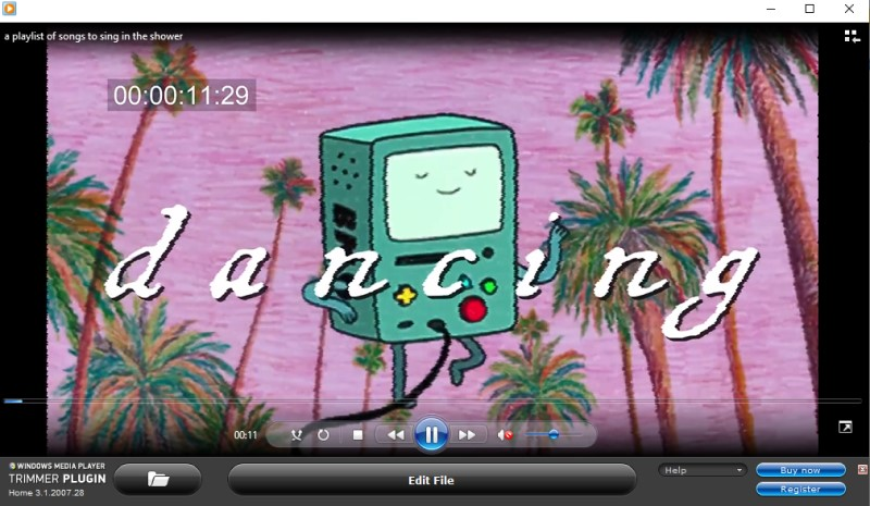 trim video windows media player interface