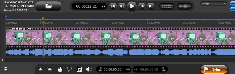 trim video windows media player process