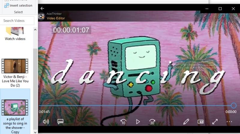 trim video windows media player ve play